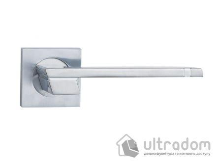 Ручка дверная на розетке SIBA Fermo, мат.хром-хром