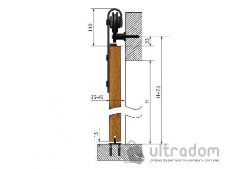 Valcomp DESIGN LINE комплект раздвижной системы TEMIDA