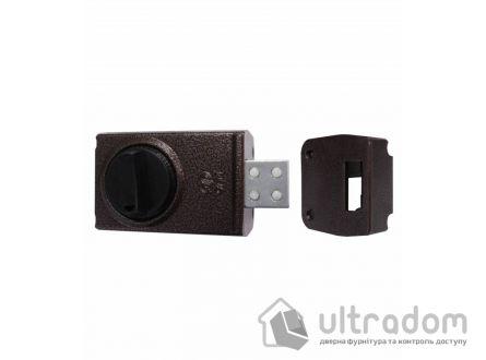 Замок накладной дисковый  ПРО-САМ ЗНД-1/М, сплошной ригель