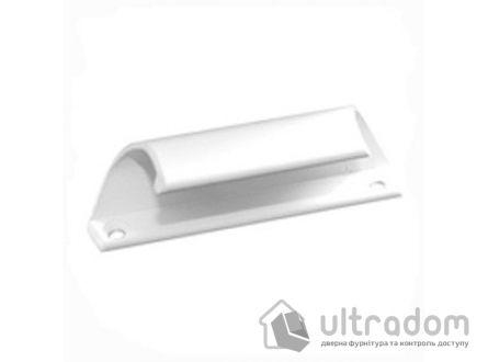 Ручка - ракушка балконная, алюминиевая белая