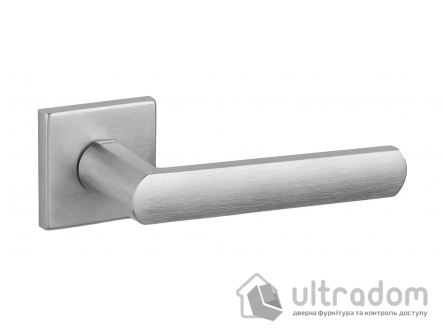 Дверная ручка DND by Martinelli LUCE 02 на квадратной розетке VIS матовый хром
