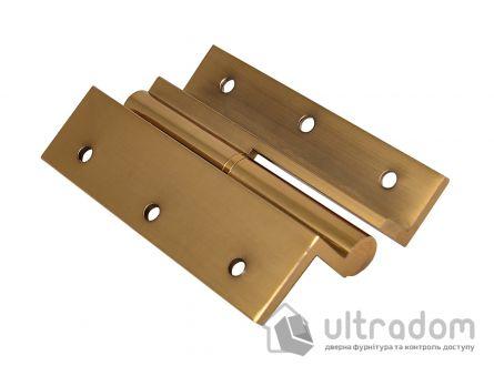 Угловые латунные дверные петли, Sofuoglu 100 мм., цвет - золото