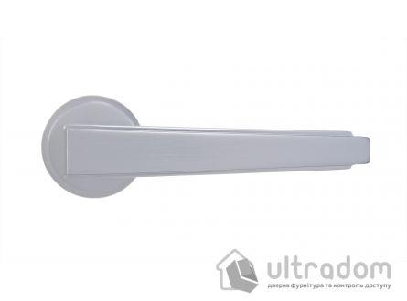 Ручка дверная на бесшовной розетке SIBA LUNA, матовый хром