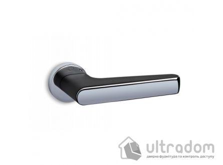 Ручка дверная Convex 2015 (хром/черный матовый)