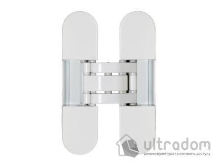 Скрытая дверная петля OTLAV Invisacta 3D 30х120 мм белая