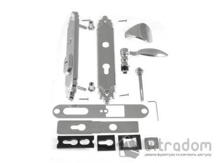 Фурнитура защитная ROSTEX R1 Ozdobna 3 класс хром с фикс. ручкой 72-85-90-92