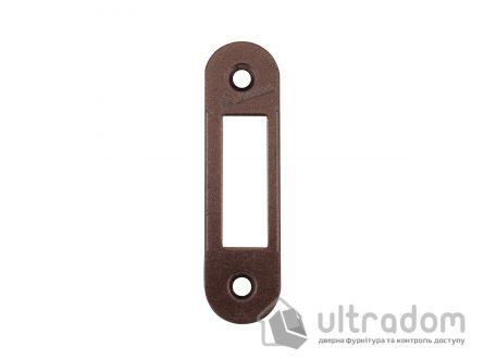 Ответная планка для замка AGB без отбойника, цвет - коричневая бронза