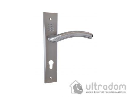 Дверная ручка на планке под ключ (85-62 мм) SIBA Bari мат.никель-хром