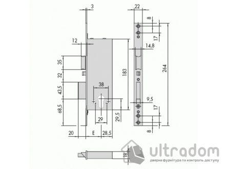 Замок электромеханический  CISA под цилиндр 1.12011