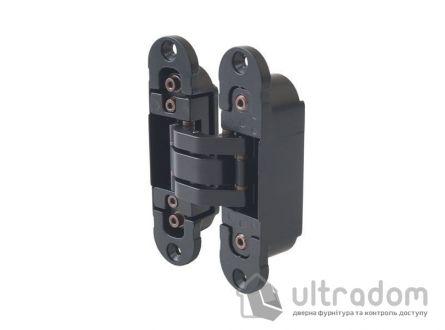 Скрытая дверная петля OTLAV Invisacta 3D 30х120 мм чёрная