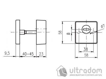 Протектор ROSTEX Quadrum 4 класс 23 мм черный