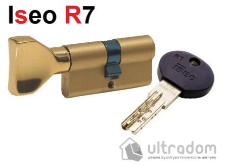 Цилиндр дверной ISEO R7 ключ - вороток, 90 мм