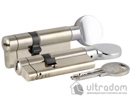 Цилиндр дверной KALE 164 KTB ключ-вороток 80 мм никель