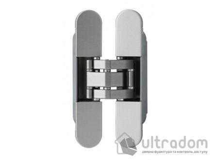 Скрытая дверная петля OTLAV Invisacta 3D 23х120 мм НЕЙЛОН матовый хром