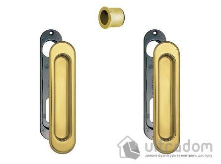 Ручки - ракушки для раздвижных дверей AGB, 2 шт, цвет - пол.латунь