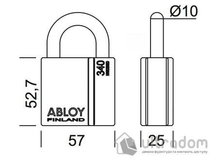 Навесной  замок ABLOY PL340 H-25 мм Sentry\Protec2
