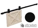 image 1 of Комплект фурнитуры раздвижной системы Mantion MODI  в стиле LOFT, матовая чёрная