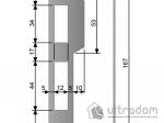 image 2 of Ответная планка для замка AGB CENTRO PZ  с ровным отбойником,  цвет - латунь.