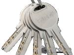 image 3 of Цилиндр дверной SIBA перфорированный ключ-вороток 80 мм