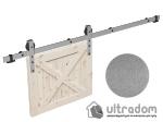 image 7 of Комплект фурнитуры раздвижной системы Mantion THOR в стиле LOFT, матовый серый