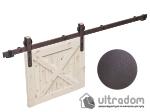 """image 6 of Комплект фурнитуры раздвижной системы Mantion THOR в стиле LOFT, коричневая бронза """"под ржавчину"""""""
