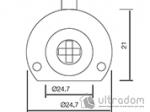 image 2 of Крестовой цилиндр дверной SIBA, 3 ключа