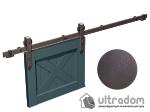 """image 1 of Комплект фурнитуры раздвижной системы Mantion THOR в стиле LOFT, коричневая бронза """"под ржавчину"""""""