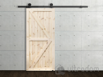 image 4 of Комплект фурнитуры раздвижной системы Mantion MODI  в стиле LOFT, матовая чёрная