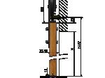 image 5 of Комплект подвесной раздвижной системы Valcomp IZYDA IZ20 в стиле LOFT (213-454)