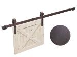 """image 6 of Комплект фурнитуры раздвижной системы Mantion THOR в стиле LOFT, коричневая бронза """"под ржавчину"""" (219-360)"""