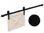 image 1 of Комплект фурнитуры раздвижной системы Mantion THOR в стиле LOFT, матовая чёрная (219-330)