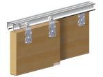 image 2 of Комплект роликов Valcomp HORUS HR02 для подвесной раздвижной системы шкафа-купе для 2-ух дверей до 45 кг (219-004)