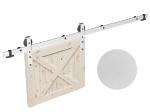 image 1 of Комплект фурнитуры раздвижной системы Mantion THOR в стиле LOFT, матовый белый (219-340)