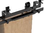 image 2 of Комплект двойного доводчика SILENT-STOP для раздвижных систем Valcomp DESIGN LINE (321-053)