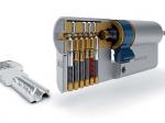 image 2 of Цилиндр AGB SCUDO 5000 PS 90 мм (30/60Т) ключ/тумблер латунь (СА2001.55.25)