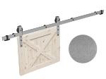 image 7 of Комплект фурнитуры раздвижной системы Mantion THOR в стиле LOFT, матовый серый (219-350)