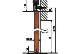 image 4 of Комплект подвесной раздвижной системы Valcomp LUNA LN20 в стиле LOFT (213-452)