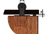 image 3 of Комплект подвесной раздвижной системы Valcomp LUNA LN20 в стиле LOFT (213-452)