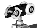 image 2 of Комплект роликов Valcomp Herkules HS120 для подвесной раздвижной системы до 120 кг (219-311)