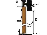 image 2 of Комплект подвесной раздвижной системы Valcomp TEMIDA TM20 в стиле LOFT (213-453)