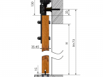 image 2 of Комплект подвесной раздвижной системы Valcomp REA RE20 в стиле LOFT (213-451)