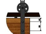image 4 of Комплект подвесной раздвижной системы Valcomp IZYDA IZ20 в стиле LOFT (213-454)