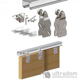 Комплект подвесной раздвижной системы Valcomp HORUS HR18 для шкафа-купе до 1800 мм,  2 створки до 45 кг (212-013) image