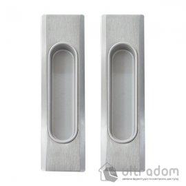 Ручки - ракушки 32х142 мм для раздвижных дверей Mandelli 1038, мат.хром image