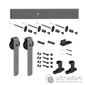Комплект раздвижной системы Mantion THOR в стиле LOFT, серебристый (219-350 SET) image