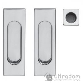 Ручки - ракушки для раздвижных дверей DND by Martinelli Pettangolare матовый хром image