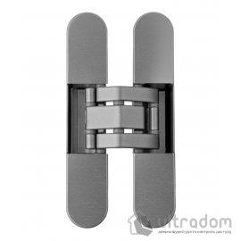 Скрытая дверная 3D петля OTLAV Invisacta IN235 23х120 мм НЕЙЛОН матовый никель image