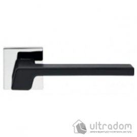 Ручка дверная Linea Cali STREAM  чёрная/хром полированный image