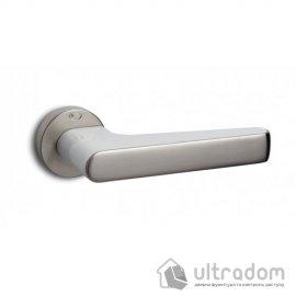 Ручка дверная Convex 2015 (никель матовый/белый) image