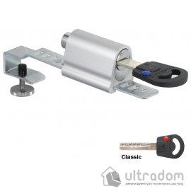 Замок повышенной надежности для цельностеклянных витрин, которые раздвигаются, MUL-T-LOCK Show Case Lock. image